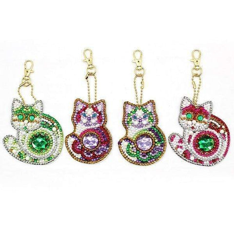 5pcs DIY Diamond Painting Keychain Special-shaped Full Drill Skull Ornament Diamond Art Painter YSK50