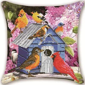 Partial AB Drill Diamond Painting Pillow- Bird House-Diamond Art Painter