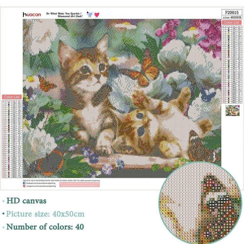 Full Drill 5D Diamond Painting Craft Kit (DIY)-Playful Cat's-Diamond Art Painter