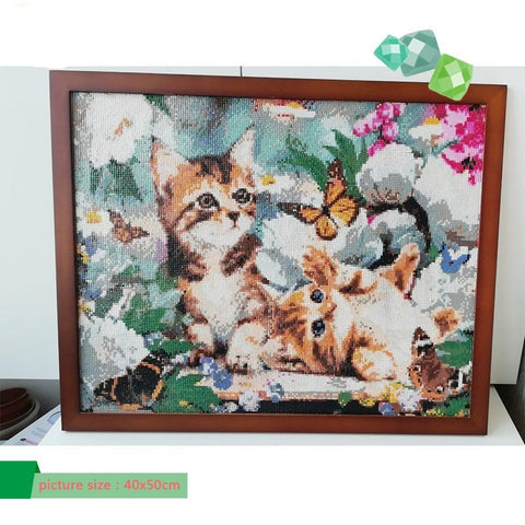 Full Drill 5D Diamond Painting Craft Kit (DIY)-Playful Cat's-eprolo-F20015-20x30cm-Diamond Art Painter
