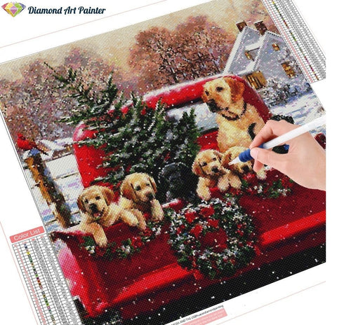 Image of 5D DIY Diamond Painting Kit - Christmas Tree Ride