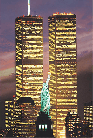 Image of Twin Towers World Trade Center-eprolo-Round Drill 20X30CM-Diamond Art Painter