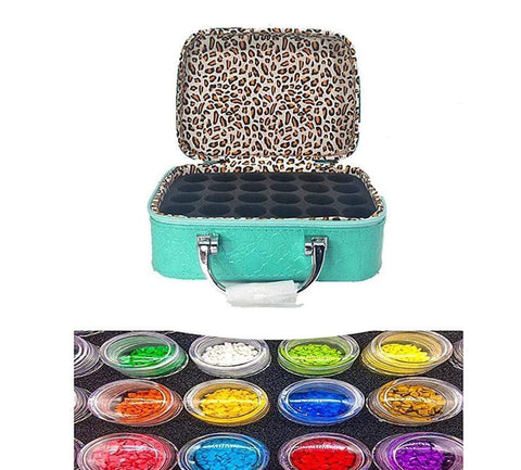 Diamond Painting Storage Case with 22 Bottles Accessories Tool Box Diamond Art Painter