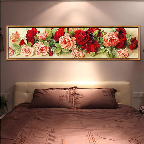 DIY Diamond Painting Kit - Panoramic Roses Diamond Art Painter