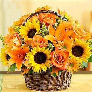DIY Diamond Painting Kit - Sunflower Basket Diamond Art Painter