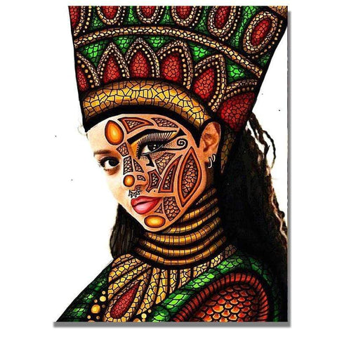 Image of Full Drill 5D Diamond Painting Craft Kit (DIY)-African Woman eprolo 10 20x25cm
