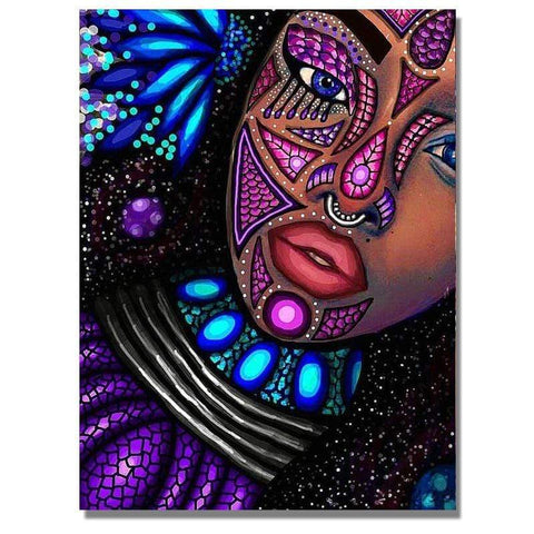 Image of Full Drill 5D Diamond Painting Craft Kit (DIY)-African Woman eprolo