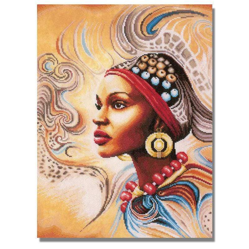 Full Drill 5D Diamond Painting Craft Kit (DIY)-African Woman eprolo