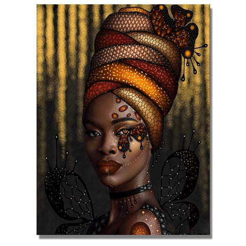 Image of Full Drill 5D Diamond Painting Craft Kit (DIY)-African Woman eprolo 4 20x25cm