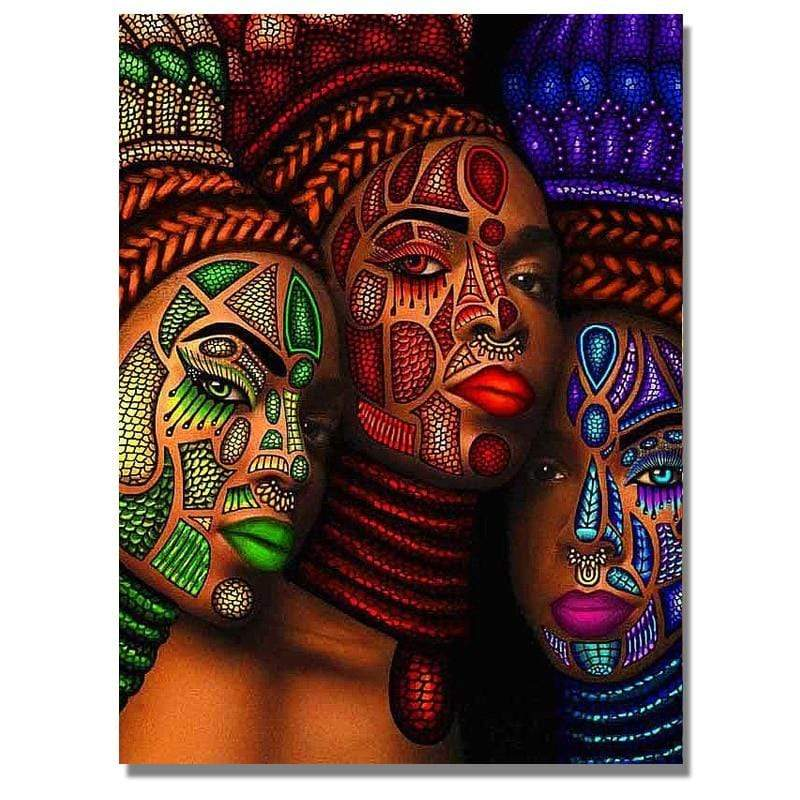 Full Drill 5D Diamond Painting Craft Kit (DIY)-African Woman eprolo 9 20x25cm