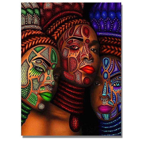 Image of Full Drill 5D Diamond Painting Craft Kit (DIY)-African Woman eprolo 9 20x25cm