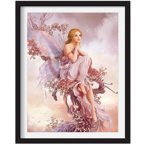 Full Drill 5D Diamond Painting Craft Kit (DIY)- Fairy Princess eprolo Butterfly fairy 20-30cm Square drill
