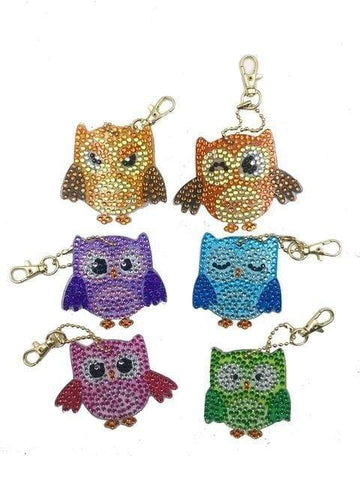 Full Drill 5D Diamond Painting (DIY)-Assorted Frisky Friends Ornament Keychain Diamond Art Painter DS023 6x6cm