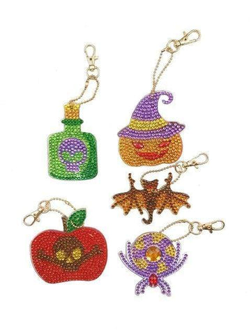 Full Drill 5D Diamond Painting (DIY)-Assorted Frisky Friends Ornament Keychain Diamond Art Painter DS024 6x6cm