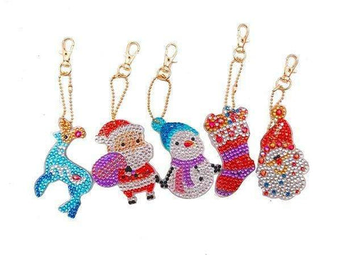 Full Drill 5D Diamond Painting (DIY)-Assorted Frisky Friends Ornament Keychain Diamond Art Painter DS026 6x6cm