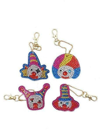 Full Drill 5D Diamond Painting (DIY)-Assorted Frisky Friends Ornament Keychain Diamond Art Painter DS031 6x6cm