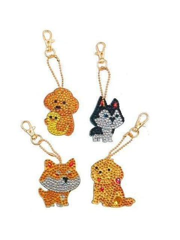 Full Drill 5D Diamond Painting (DIY)-Assorted Frisky Friends Ornament Keychain Diamond Art Painter DS032 6x6cm