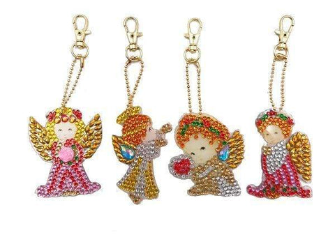 Full Drill 5D Diamond Painting (DIY)-Assorted Frisky Friends Ornament Keychain Diamond Art Painter DS033 6x6cm