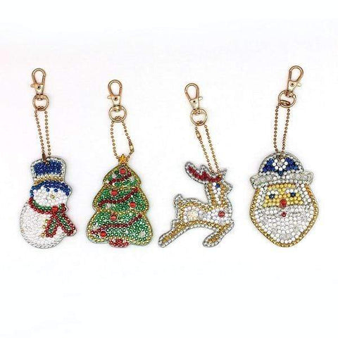 Full Drill 5D Diamond Painting (DIY)-Assorted Frisky Friends Ornament Keychain Diamond Art Painter YSK40 6x6cm