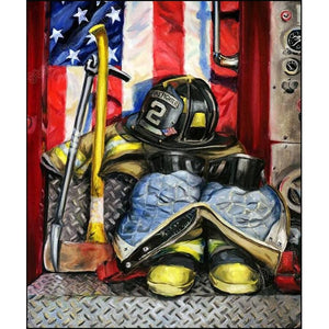 Full Drill 5D Diamond Painting (DIY)-First Responder Firefighter Diamond Art Painter