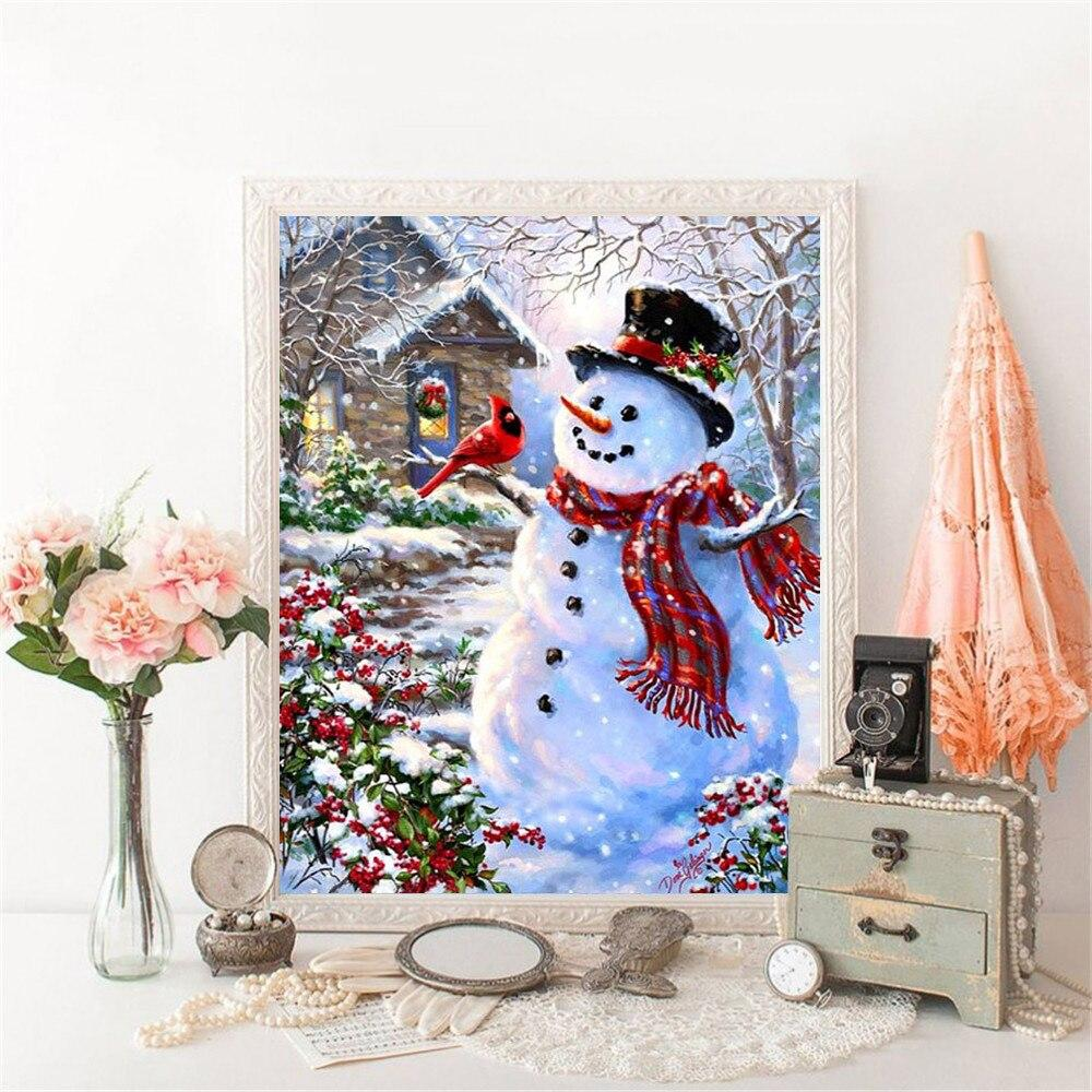 Full Drill 5D Diamond Painting (DIY)- Snowman's Dream eprolo
