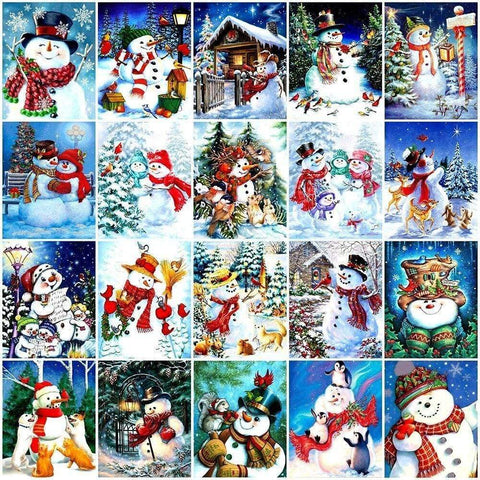 Image of Full Drill 5D Diamond Painting (DIY)- Snowman's Dream eprolo