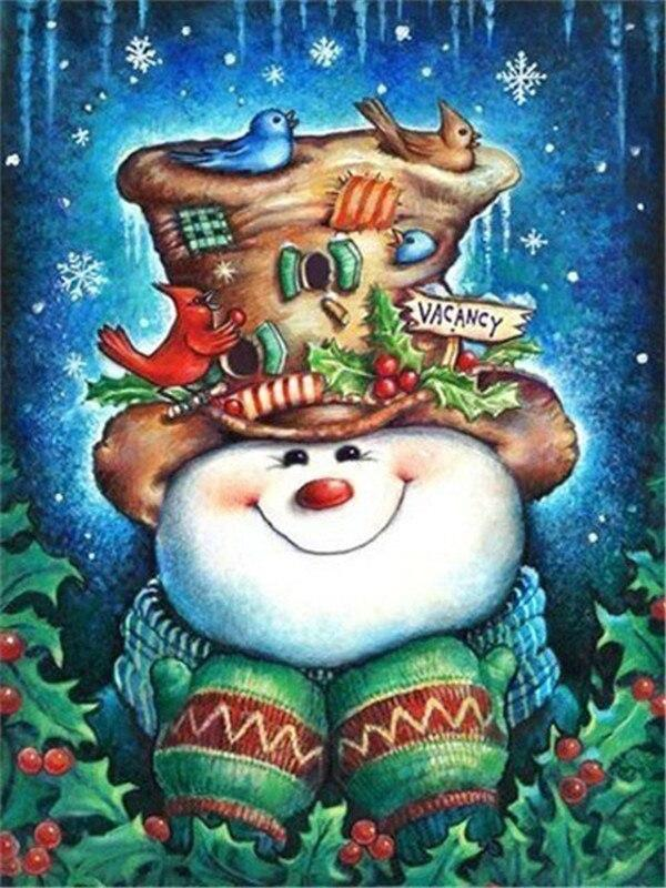 Full Drill 5D Diamond Painting (DIY)- Snowman's Dream eprolo FA1-1524 Full Square 20X30cm