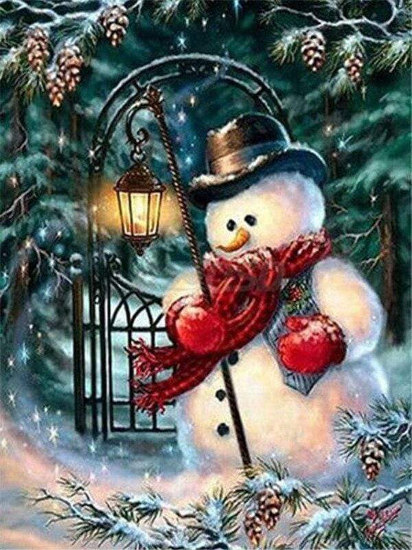 Full Drill 5D Diamond Painting (DIY)- Snowman's Dream eprolo FA1-1526 Full Square 20X30cm
