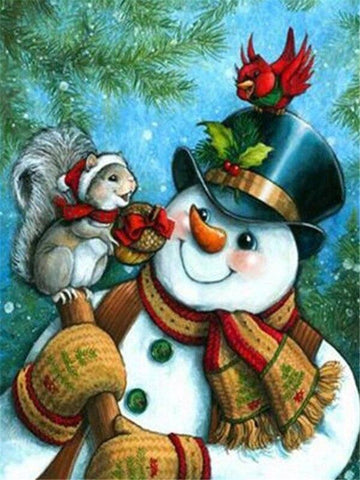 Image of Full Drill 5D Diamond Painting (DIY)- Snowman's Dream eprolo FA1-1527 Full Square 20X30cm