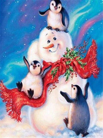 Image of Full Drill 5D Diamond Painting (DIY)- Snowman's Dream eprolo FA1-1528 Full Square 20X30cm