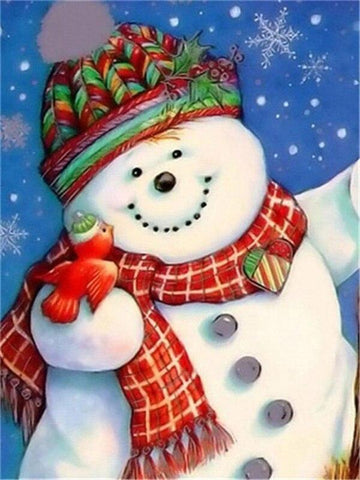 Image of Full Drill 5D Diamond Painting (DIY)- Snowman's Dream eprolo FA1-1529 Full Square 20X30cm