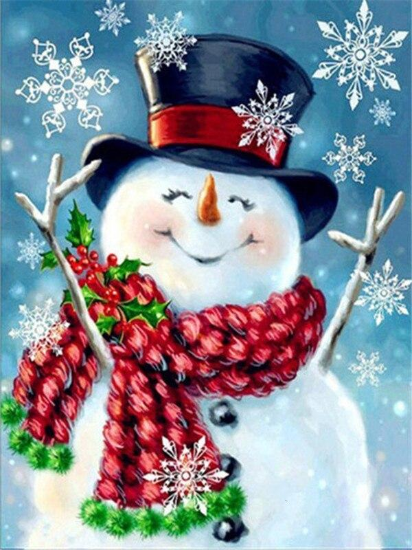 Full Drill 5D Diamond Painting (DIY)- Snowman's Dream eprolo FA1-1530 Full Square 20X30cm