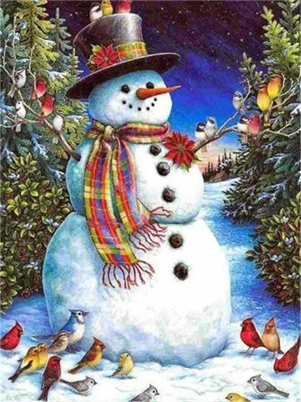 Full Drill 5D Diamond Painting (DIY)- Snowman's Dream eprolo FA1-1533 Full Square 20X30cm