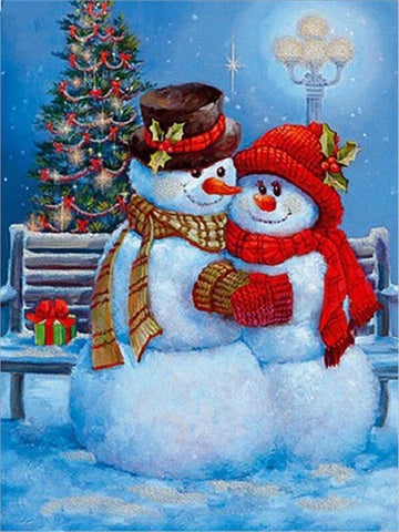 Image of Full Drill 5D Diamond Painting (DIY)- Snowman's Dream eprolo FA1-1535 Full Square 20X30cm