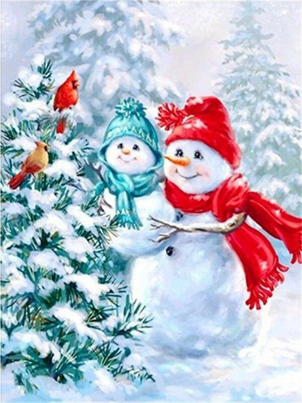 Full Drill 5D Diamond Painting (DIY)- Snowman's Dream eprolo FA1-1536 Full Square 20X30cm