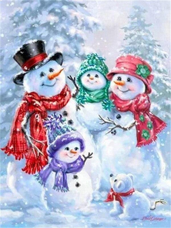 Full Drill 5D Diamond Painting (DIY)- Snowman's Dream eprolo FA1-1538 Full Square 20X30cm