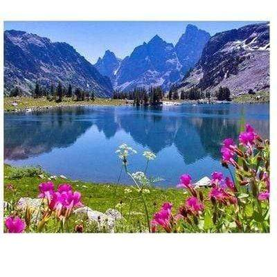 """Lake and Mountain Ranges"" 