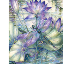 """Lotus and Dragonfly"" 