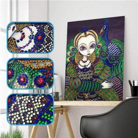 Partial Drill 5D Diamond Painting (DIY) - Assorted Jewel Encrusted Designs eprolo 30x40 30*40cm-12
