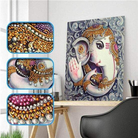 Partial Drill 5D Diamond Painting (DIY) - Assorted Jewel Encrusted Designs eprolo 30x40 30*40cm-13
