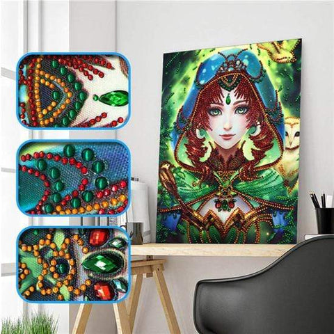 Partial Drill 5D Diamond Painting (DIY) - Assorted Jewel Encrusted Designs eprolo 30x40 30*40cm-14