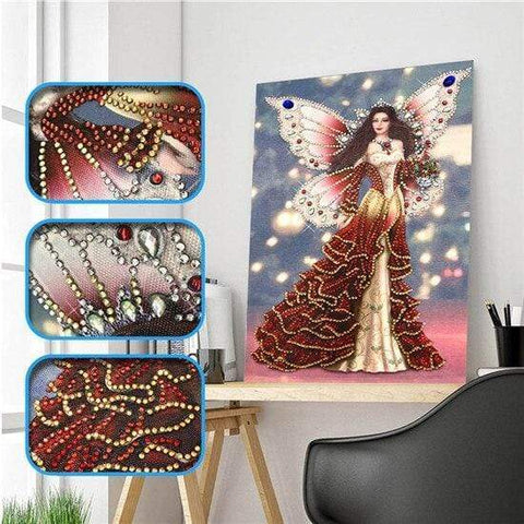 Partial Drill 5D Diamond Painting (DIY) - Assorted Jewel Encrusted Designs eprolo 30x40 30*40cm-16