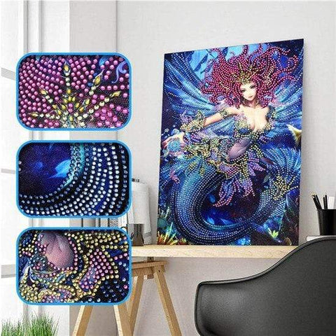 Partial Drill 5D Diamond Painting (DIY) - Assorted Jewel Encrusted Designs eprolo 30x40 30*40cm-17
