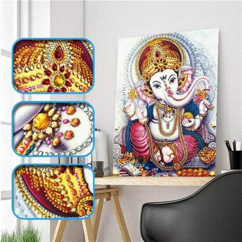 Partial Drill 5D Diamond Painting (DIY) - Assorted Jewel Encrusted Designs eprolo 30x40 30*40cm-18