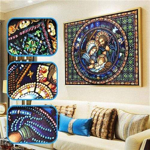 Partial Drill 5D Diamond Painting (DIY) - Assorted Jewel Encrusted Designs eprolo 30x40 30*40cm-9