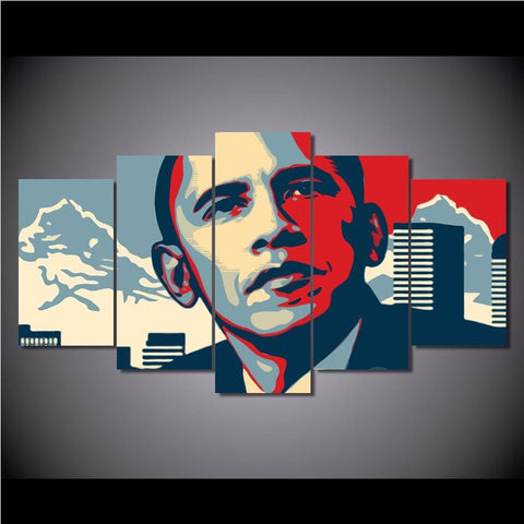 Image of 5-Panel 5D DIY Diamond Painting Kit - Obama