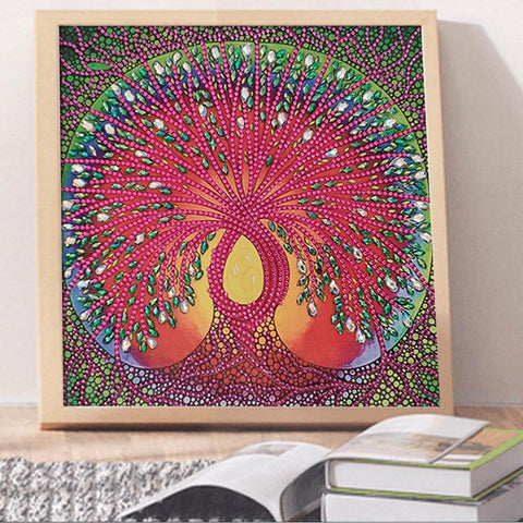 Image of DIY 5D Special Shaped Diamond Painting Craft Kit - Tree Of Life