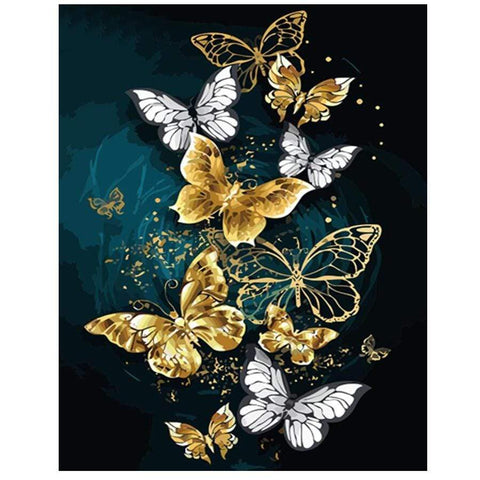 DIY Diamond Painting Kit - 5D Christmas Butterfly