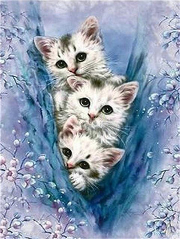 Diy 5D Diamond Painting Kit - Feline Friends