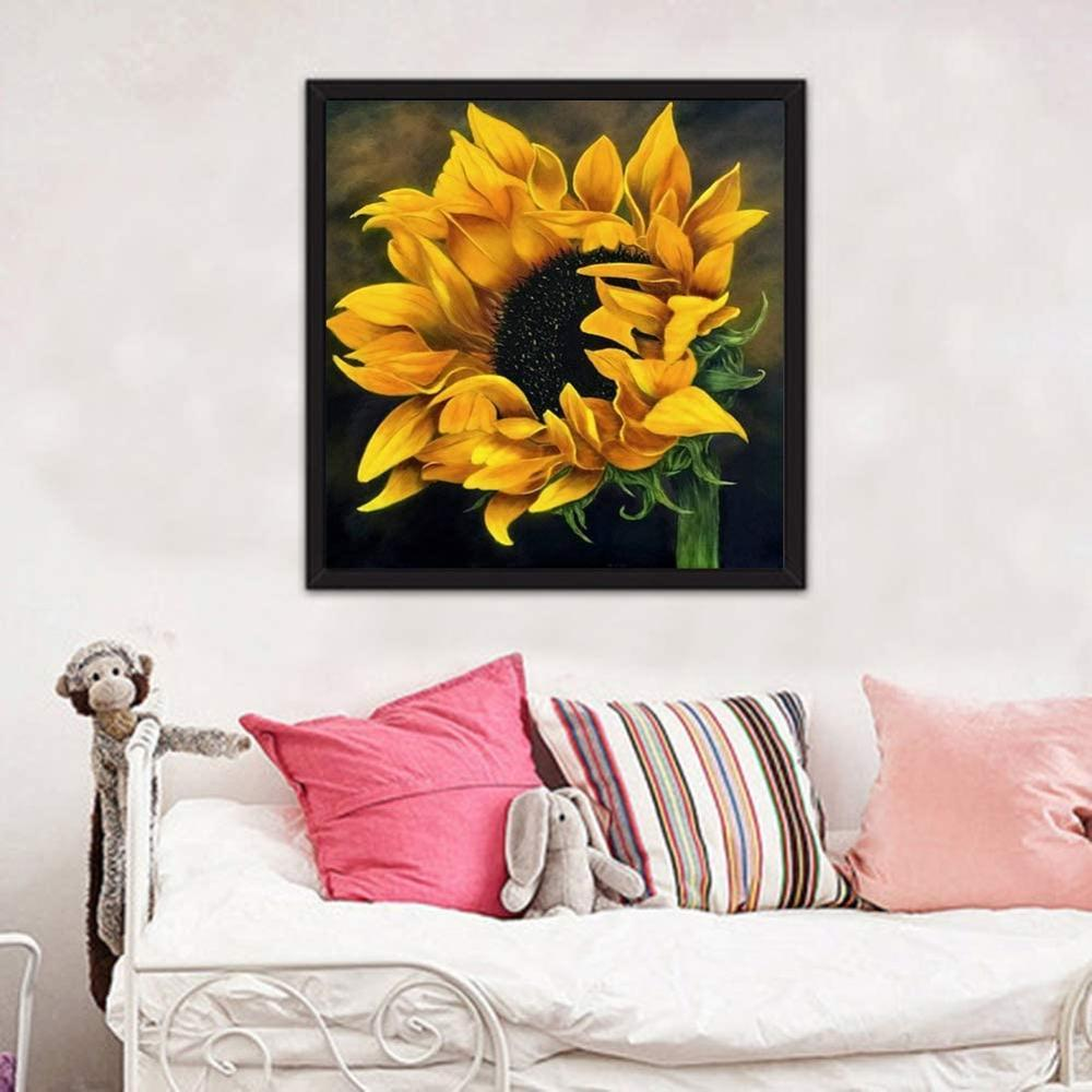 5D DIY Diamond Painting Kit - Realistic Sunflower
